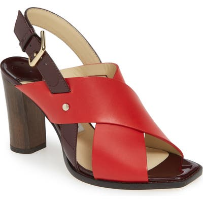 Jimmy Choo Aix Cross Strap Sandal - Red