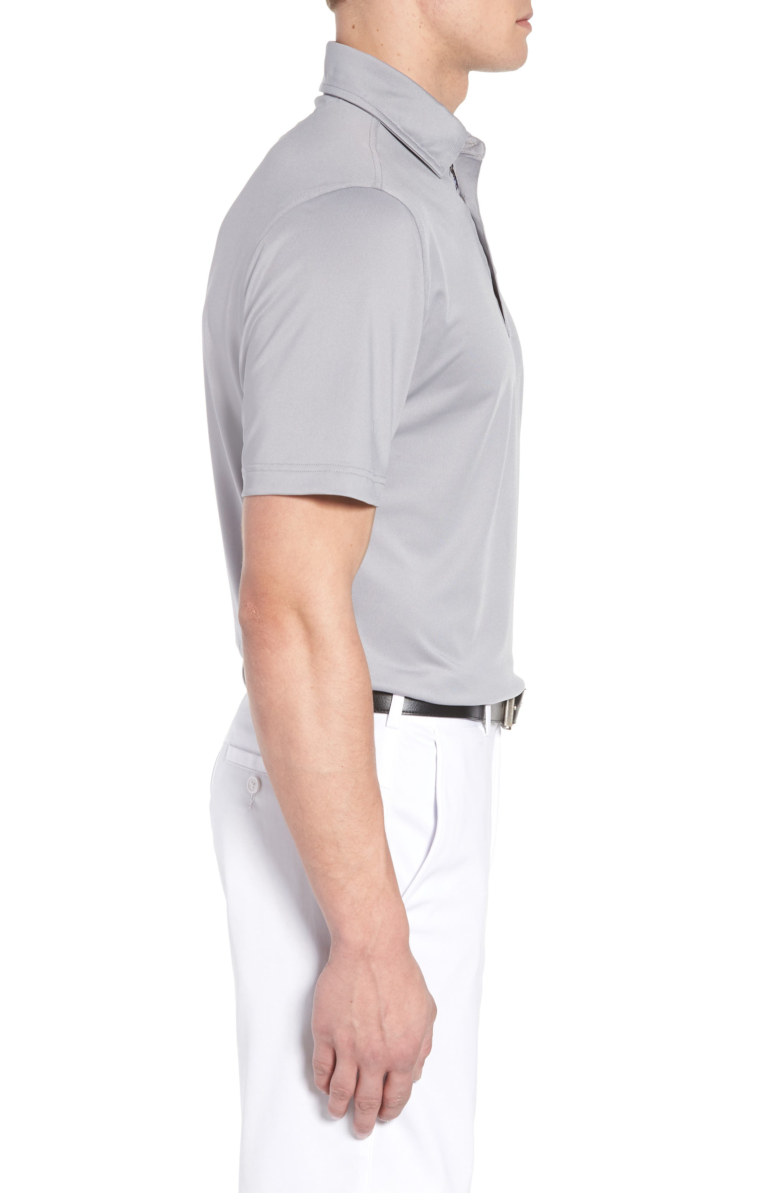 ,                             XH20 Regular Fit Stretch Golf Polo,                             Alternate thumbnail 3, color,                             GRAPHITE