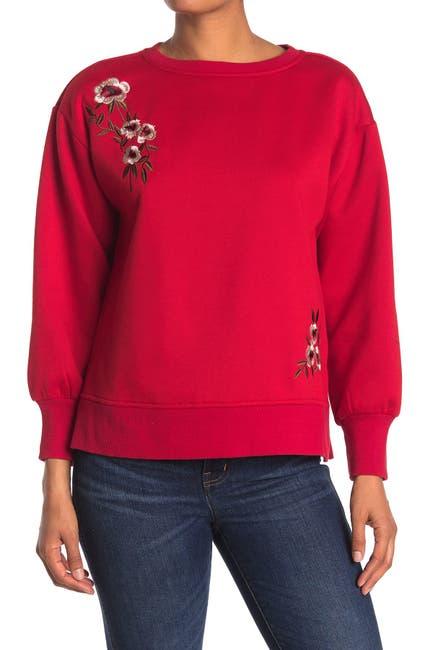Image of Velvet Heart Orson Floral Embroidered Sweatshirt