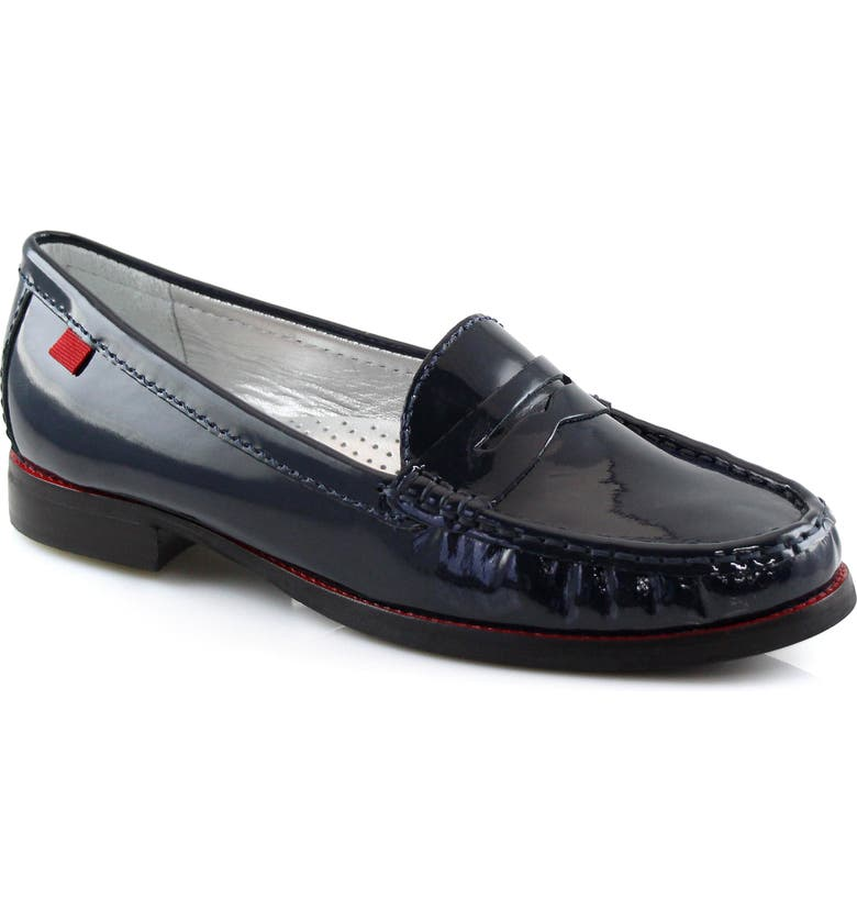 MARC JOSEPH NEW YORK East Village Loafer, Main, color, NAVY PATENT LEATHER