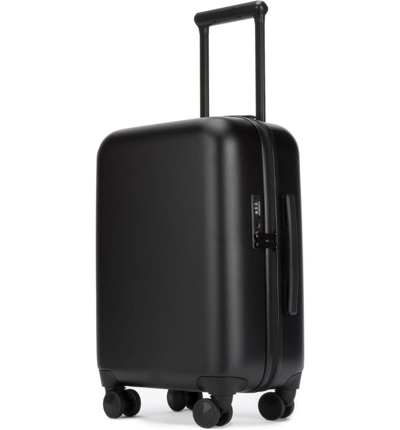 REBECCA MINKOFF So Connected 22-Inch Charging Spinner Suitcase, Main, color, MATTE BLACK