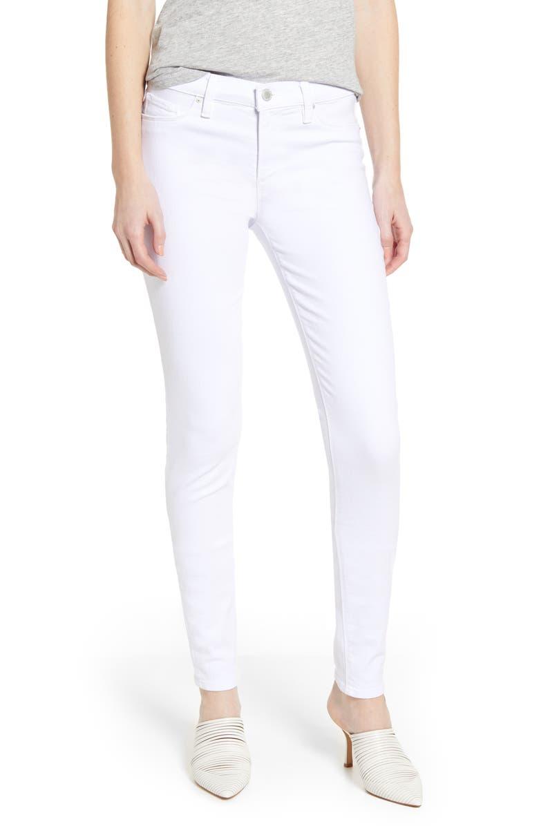 HUDSON JEANS Nico Supermodel Super Skinny Jeans, Main, color, WHITE
