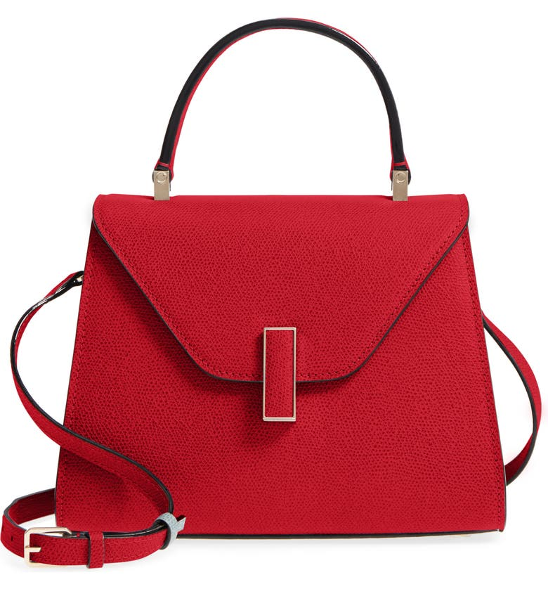 VALEXTRA Iside Mini Top Handle Bag, Main, color, RED