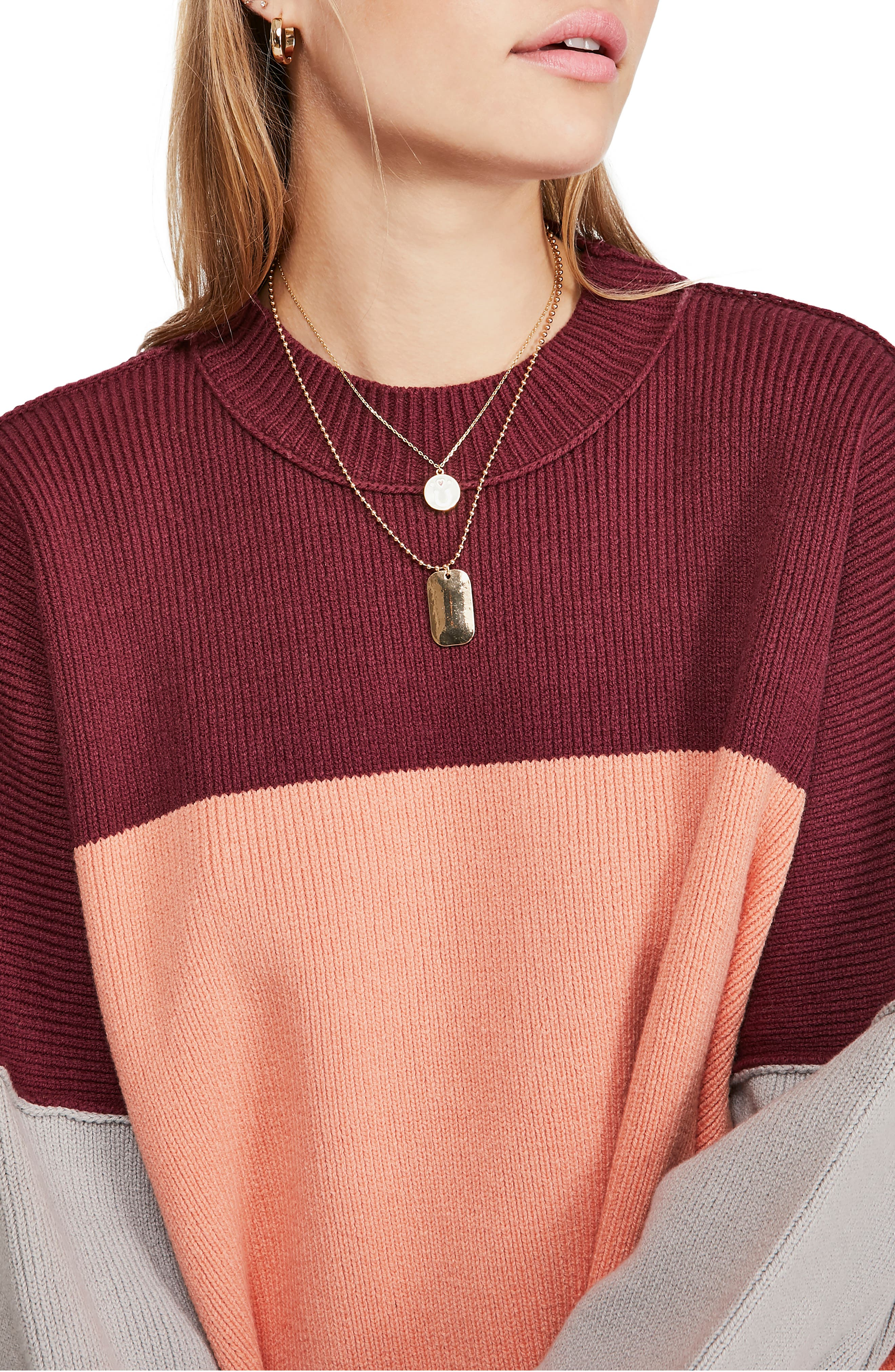Free People Sweaters Easy Street Colorblock Sweater