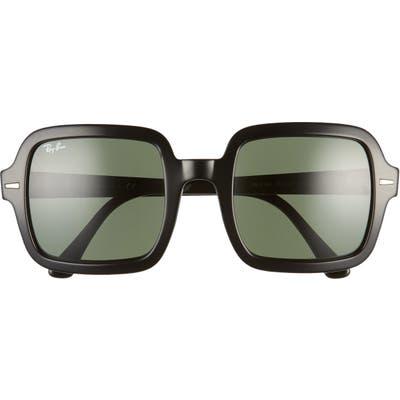 Ray-Ban 5m Square Sunglasses - Black/ Green Solid