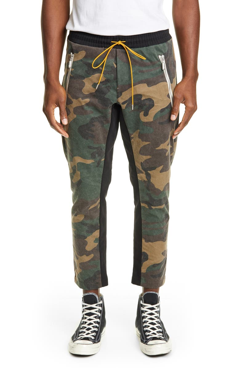 RHUDE Camo Track Pants, Main, color, CAMO/BLACK