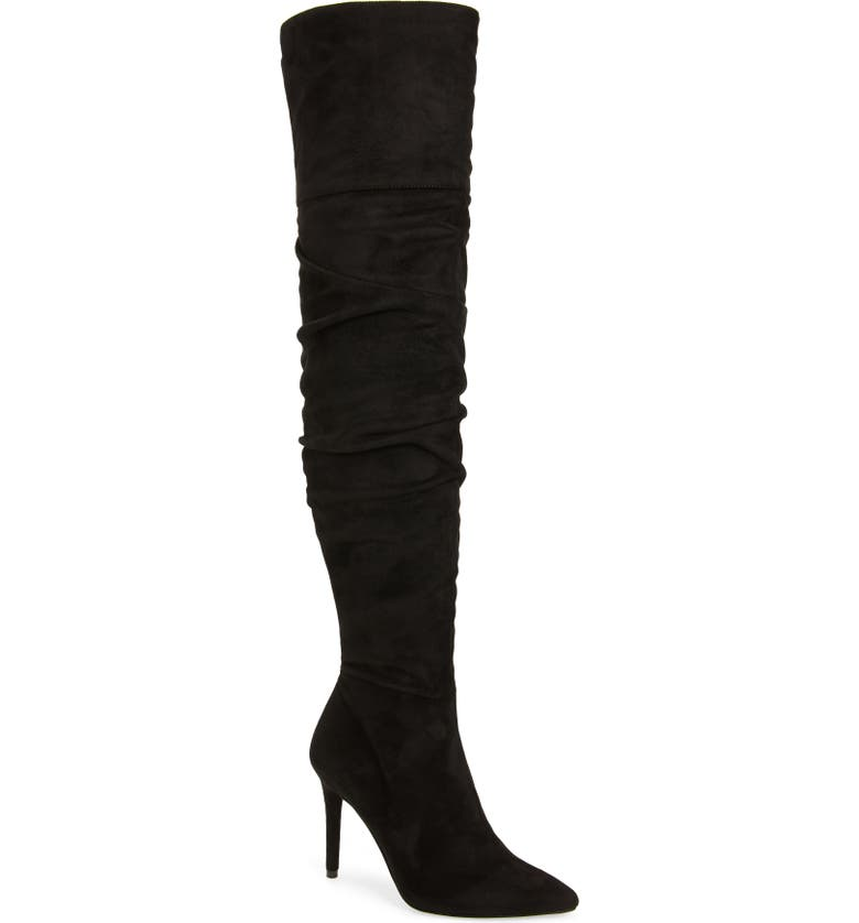 JESSICA SIMPSON Ladee Over the Knee Boot, Main, color, BLACK/BLACK SUEDE