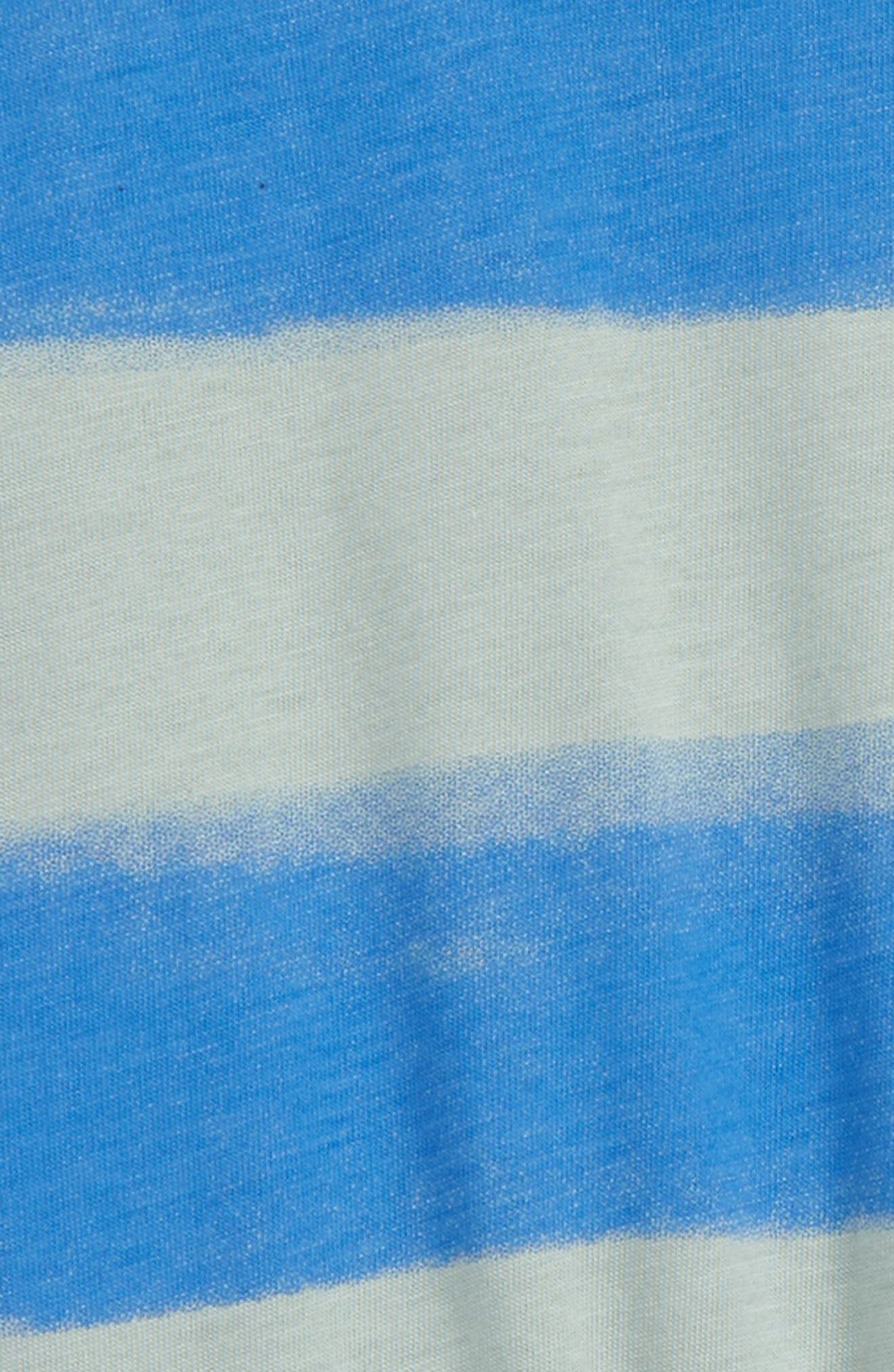 ,                             Printed Wrap Back Romper,                             Alternate thumbnail 3, color,                             PAINTED STRIPE-SEA GREEN