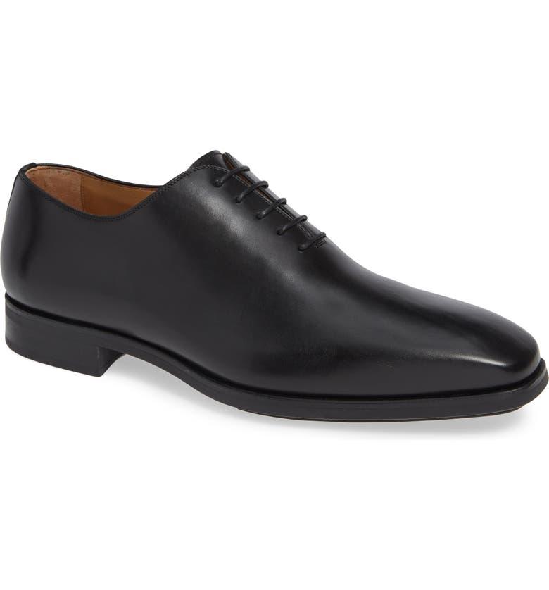 MAGNANNI Ryder Diversa Plain Toe Whole Cut Shoe, Main, color, BLACK LEATHER
