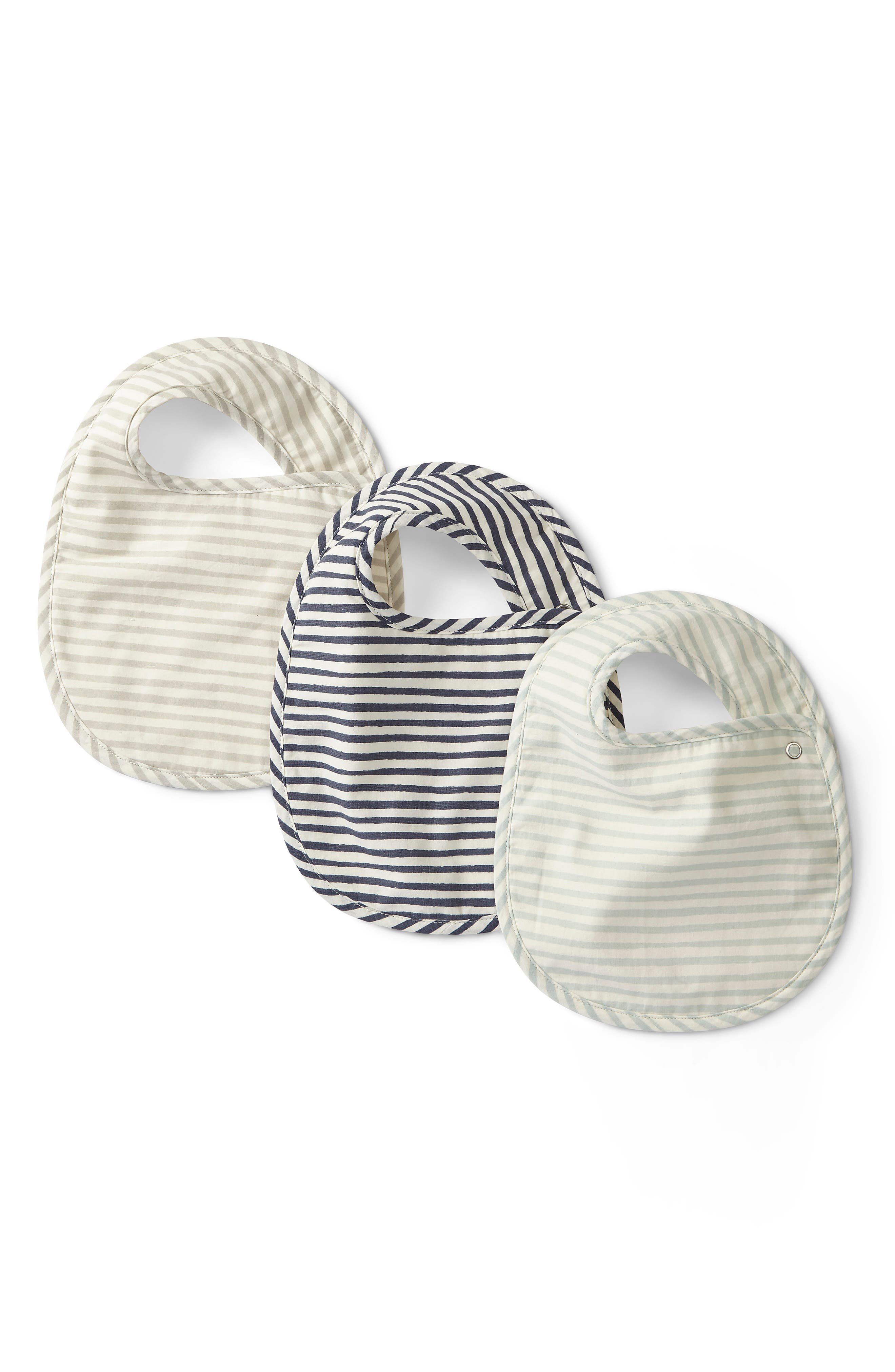 Infant Pehr Stripes Away 3Pack Bibs Size One Size  Grey
