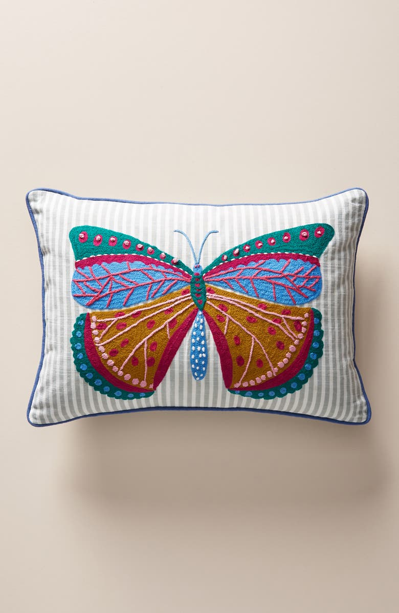 ANTHROPOLOGIE Paule Marrot Accent Pillow, Main, color, BLUE