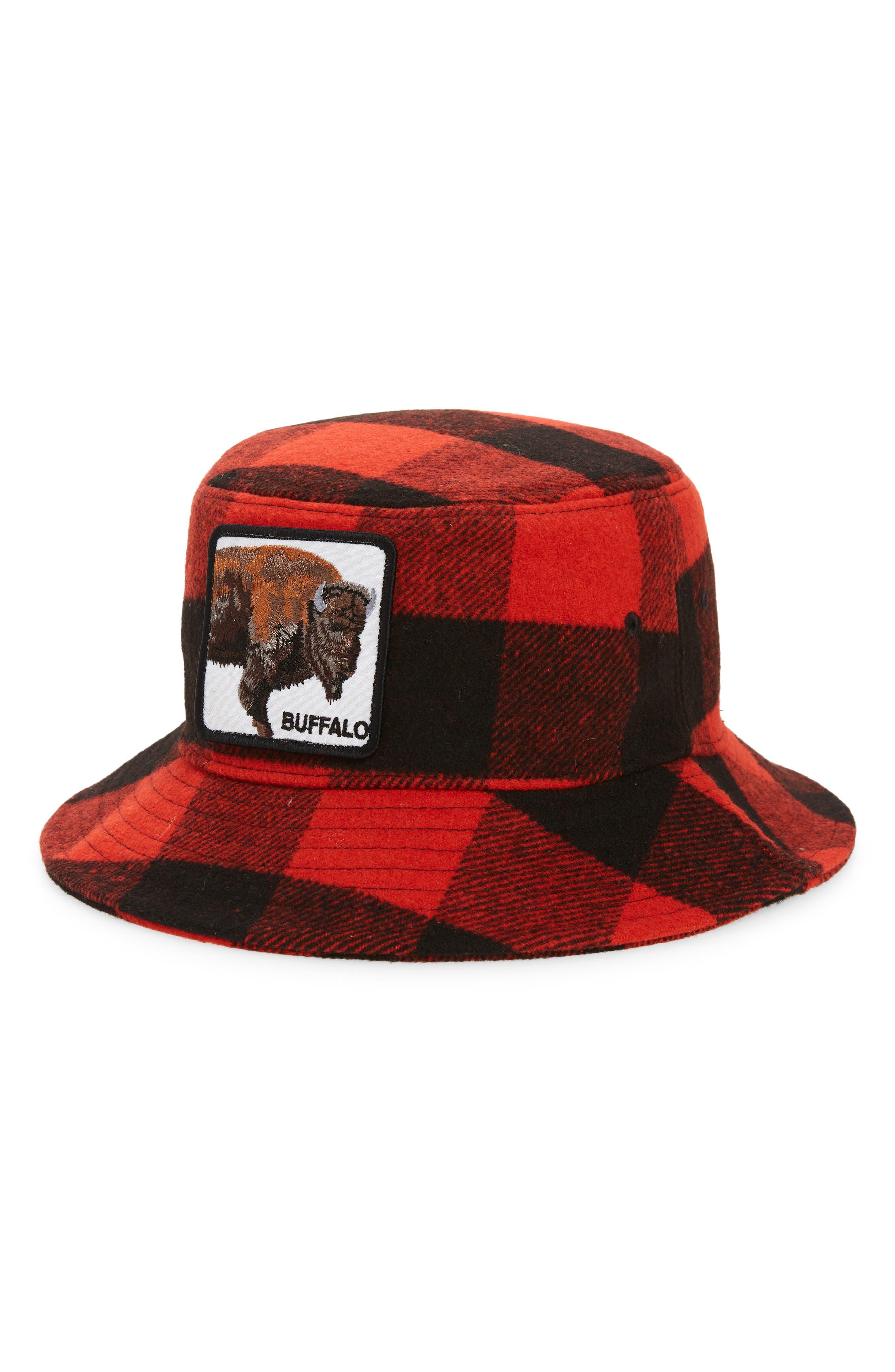 . Extra Buff Buffalo Check Flannel Bucket Hat