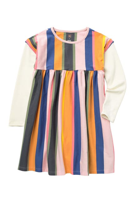 Image of Tea Collection Stripe Layer Look Long Sleeve Dress