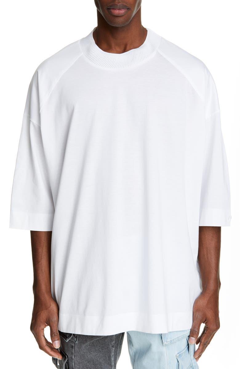JUUN.J Oversize Mock Neck T-Shirt, Main, color, 100
