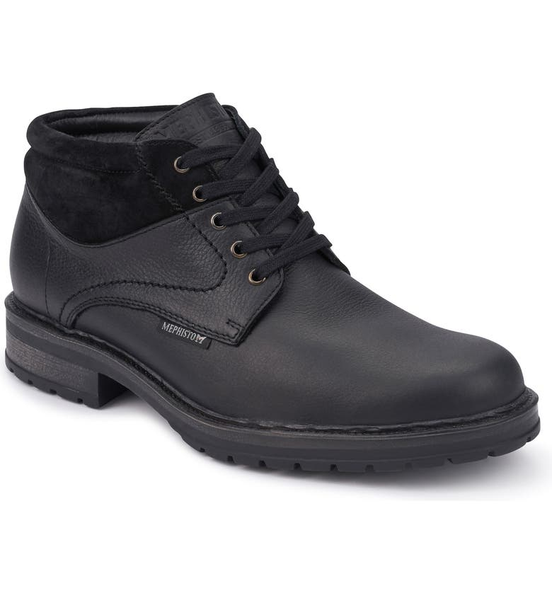 MEPHISTO Lukas Mid Boot, Main, color, BLACK/ WARM GREY LEATHER