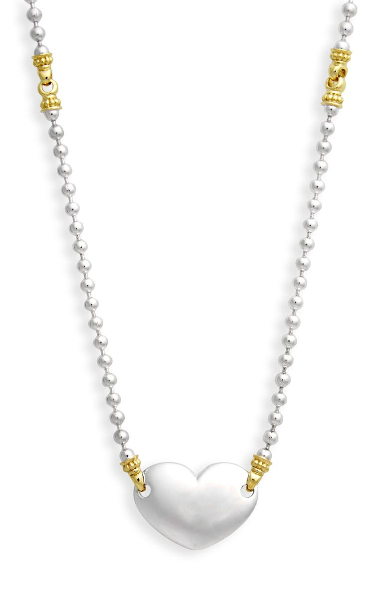 LAGOS Beloved Heart Chain Necklace, Main, color, SILVER