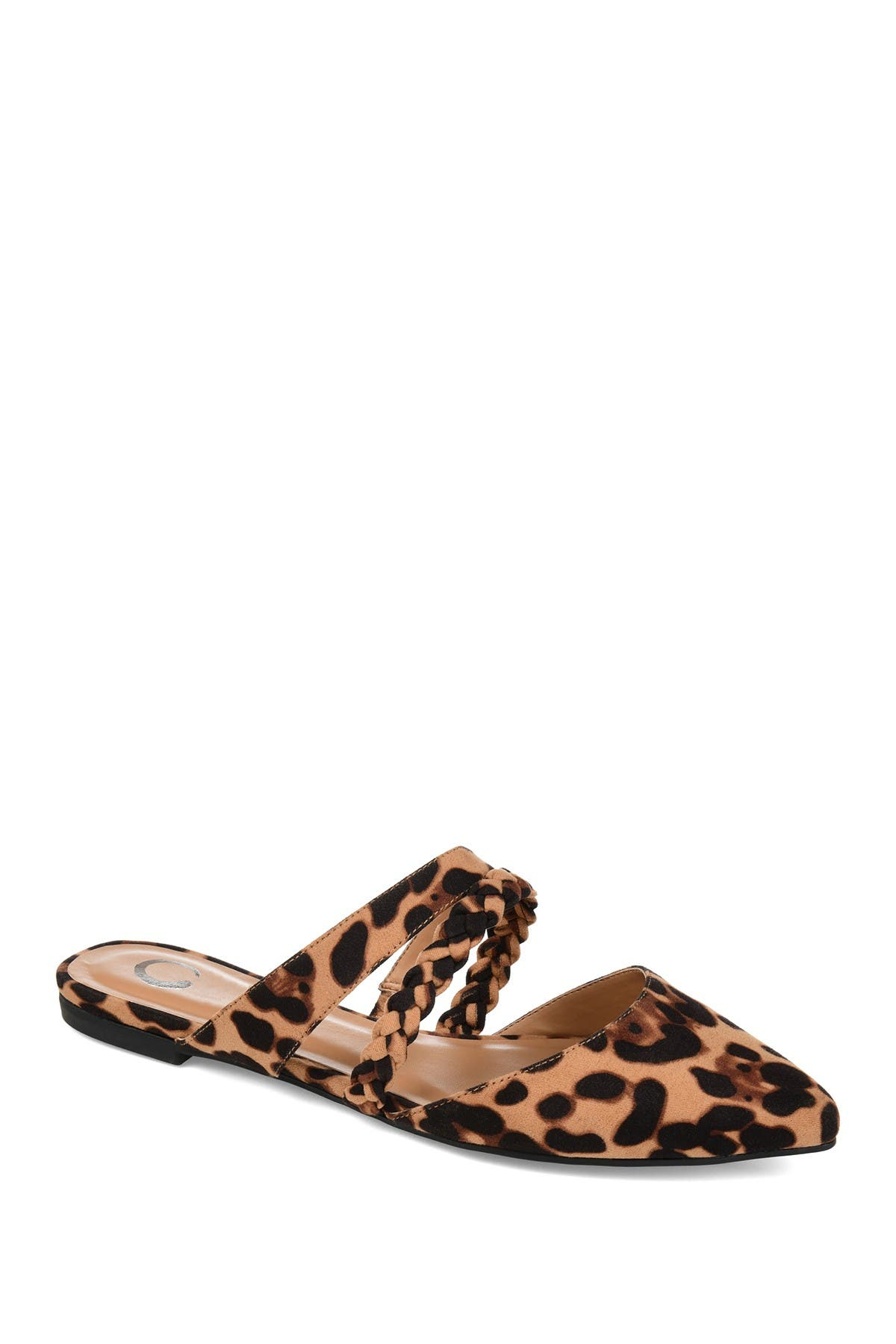 Image of JOURNEE Collection Olivea Braided Strap Mule