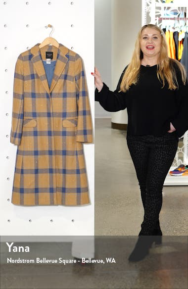 Plaid Wool Blend College Coat, sales video thumbnail