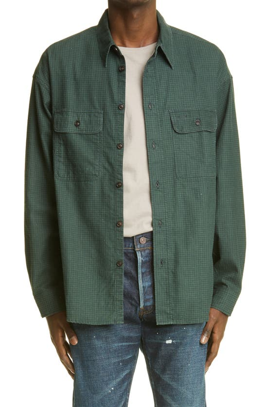 Visvim Cottons LUMBER CHECK FLANNEL BUTTON-UP SHIRT