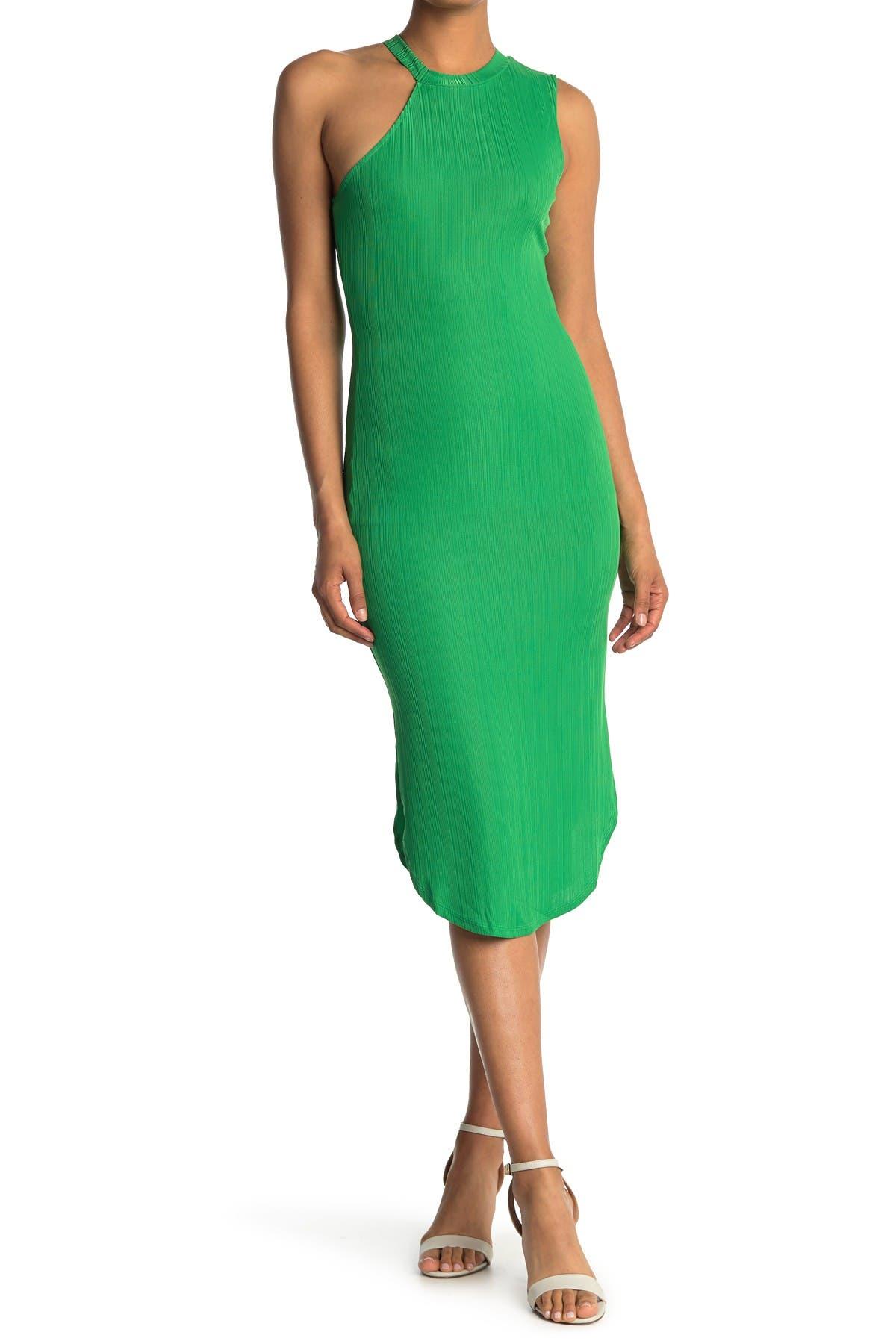 Image of NSR Aly Asymmetrical Knit Midi Dress