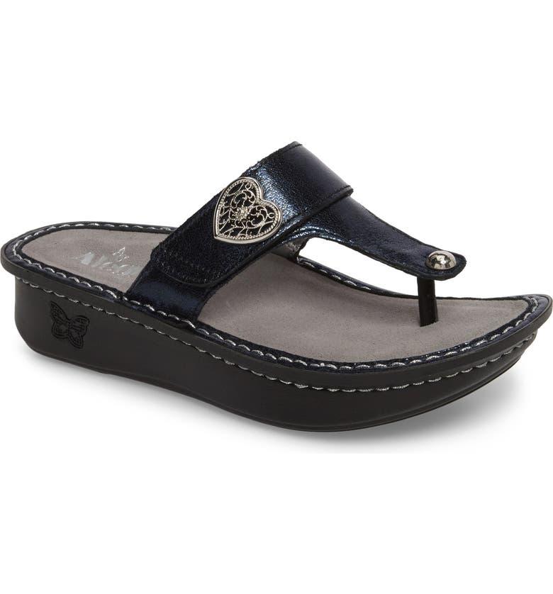 ALEGRIA 'Carina' Sandal, Main, color, DUSK LEATHER