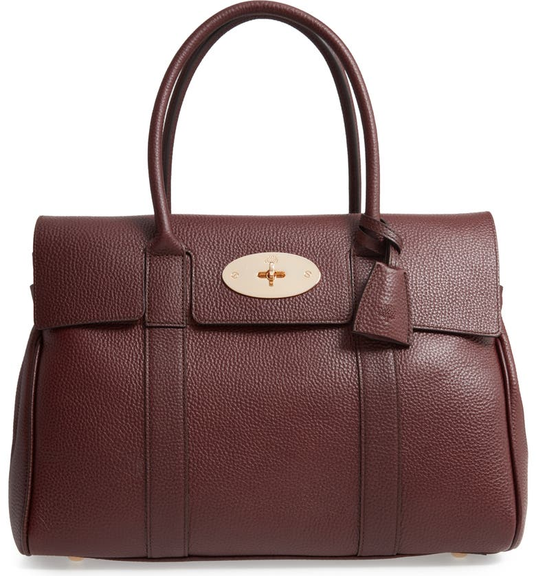 MULBERRY Heritage Bayswater Leather Tote, Main, color, 930