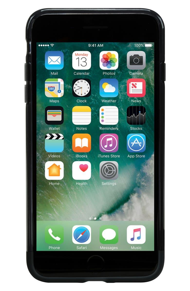 INCASE DESIGNS Protective iPhone 7 Plus/8 Plus Case, Main, color, BLACK