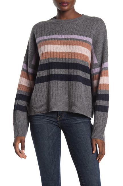 Image of 360 Cashmere Eliana Striped Dolman Cashmere Sweater