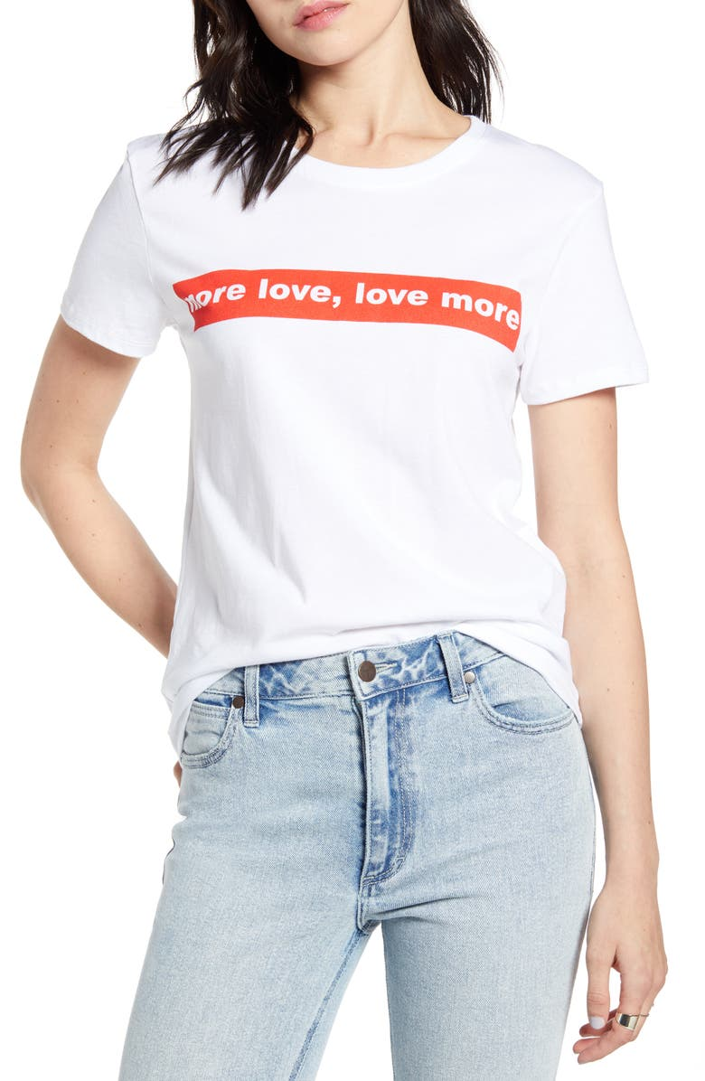 PRINCE PETER More Love Graphic Tee, Main, color, WHITE