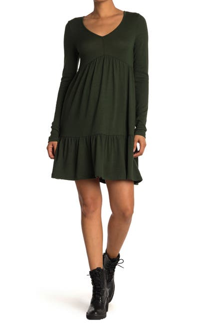 Image of Cloth By Design V-Neck Tiered Dress