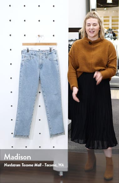 The Isabelle High Waist Step Hem Ankle Jeans, sales video thumbnail