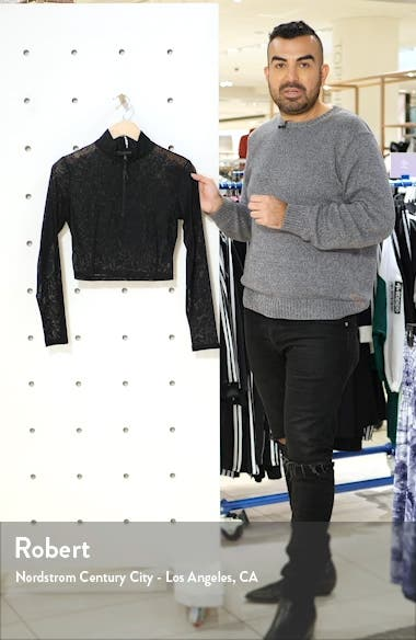 Long Sleeve Crop Quarter Zip Pullover, sales video thumbnail
