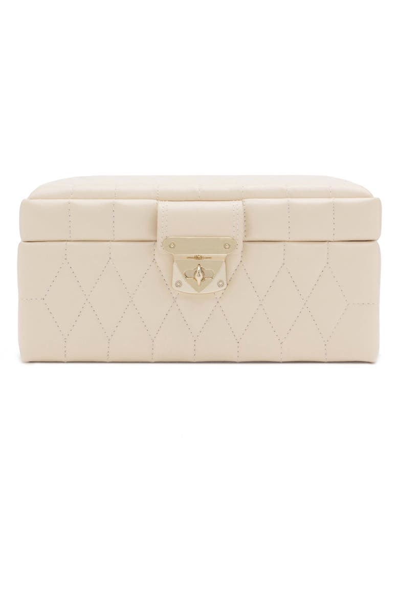 WOLF Caroline Small Travel Jewelry Case, Main, color, IVORY