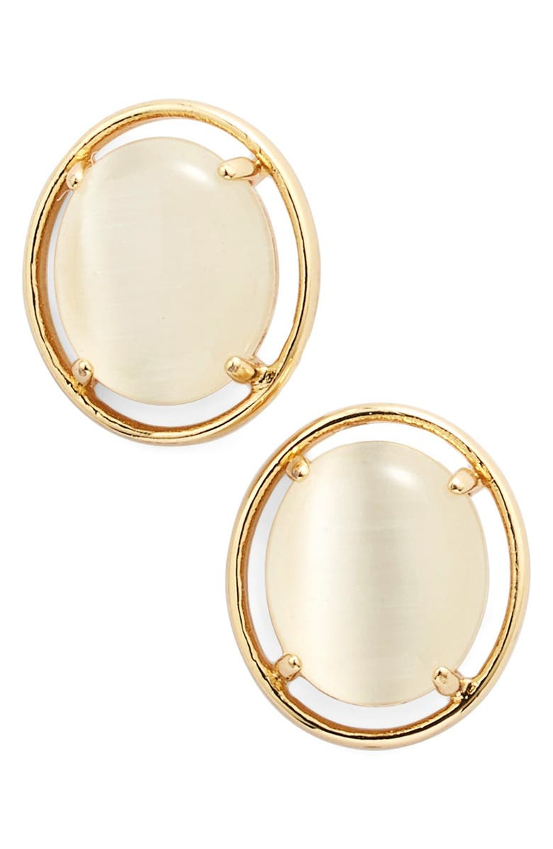 KATE SPADE NEW YORK open rim stud earrings, Main, color, 100