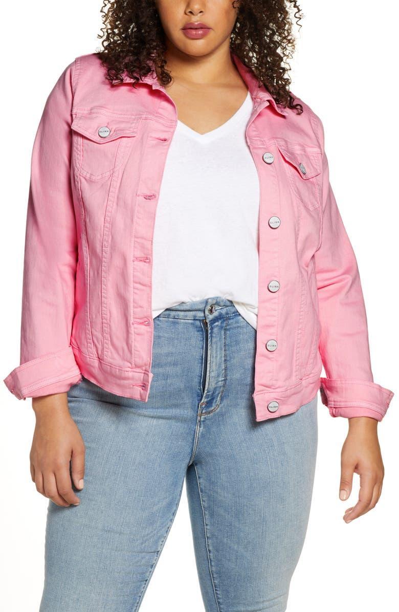SLINK JEANS Stretch Denim Jacket, Main, color, 650