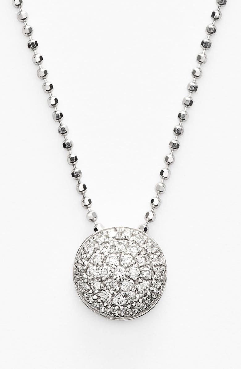 BONY LEVY Eclipse Pavé Diamond Pendant Necklace, Main, color, WHITE GOLD