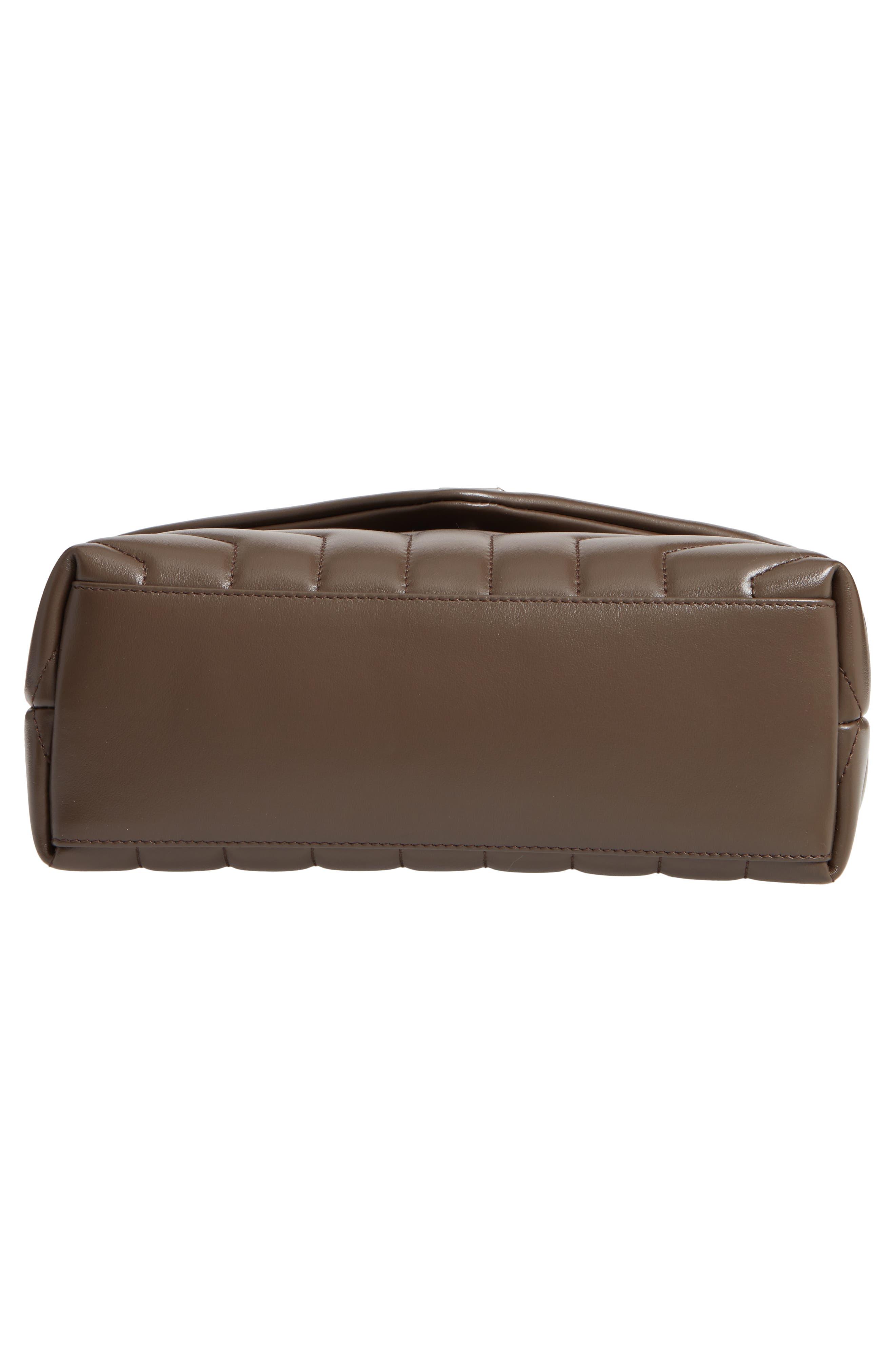 ,                             Small Loulou Matelassé Leather Shoulder Bag,                             Alternate thumbnail 6, color,                             FAGGIO/ FAGGIO