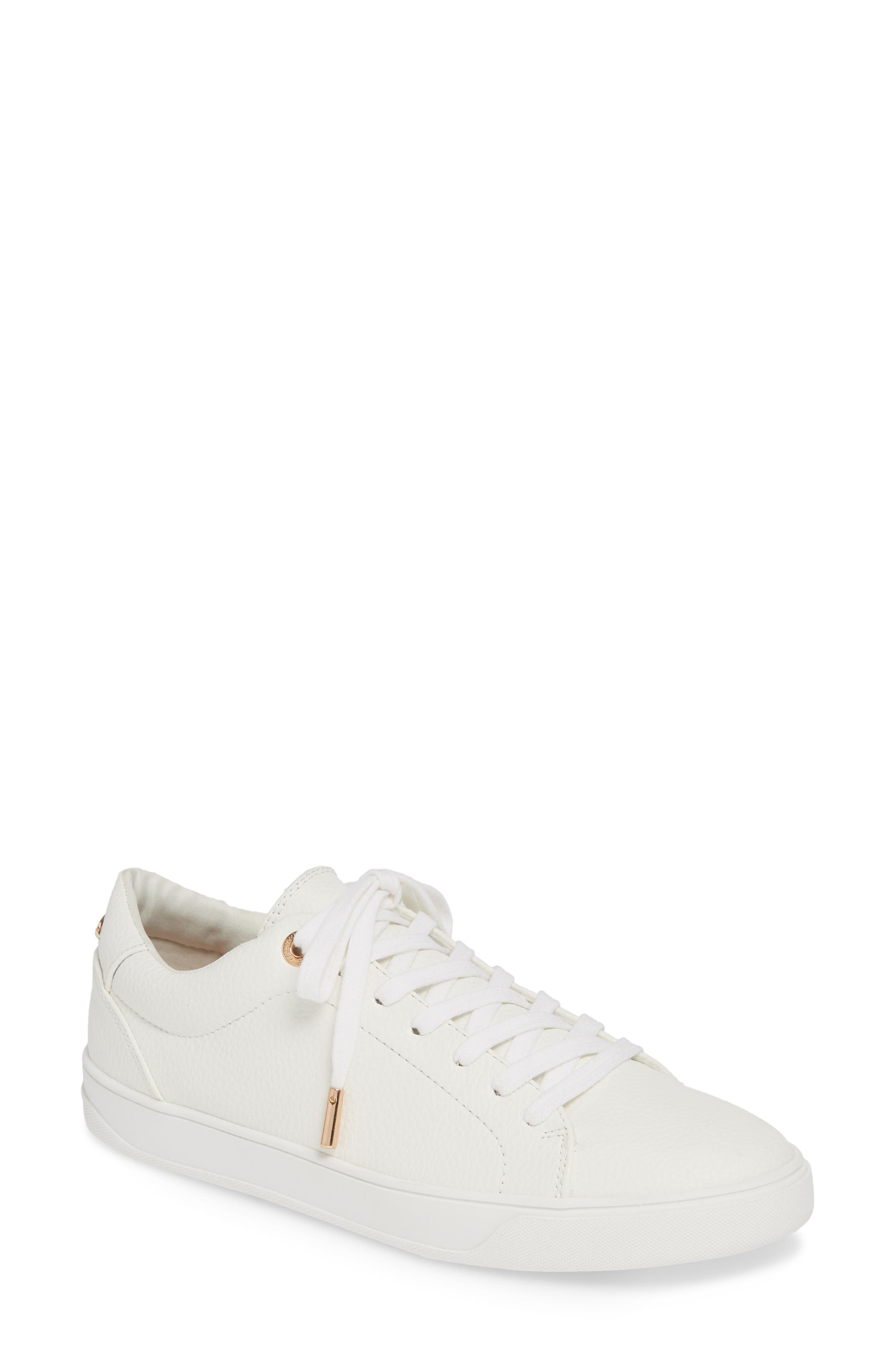 Curly Low Top Sneaker, Main, color, WHITE