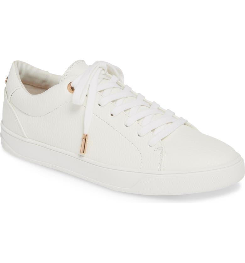 TOPSHOP Curly Low Top Sneaker, Main, color, 100