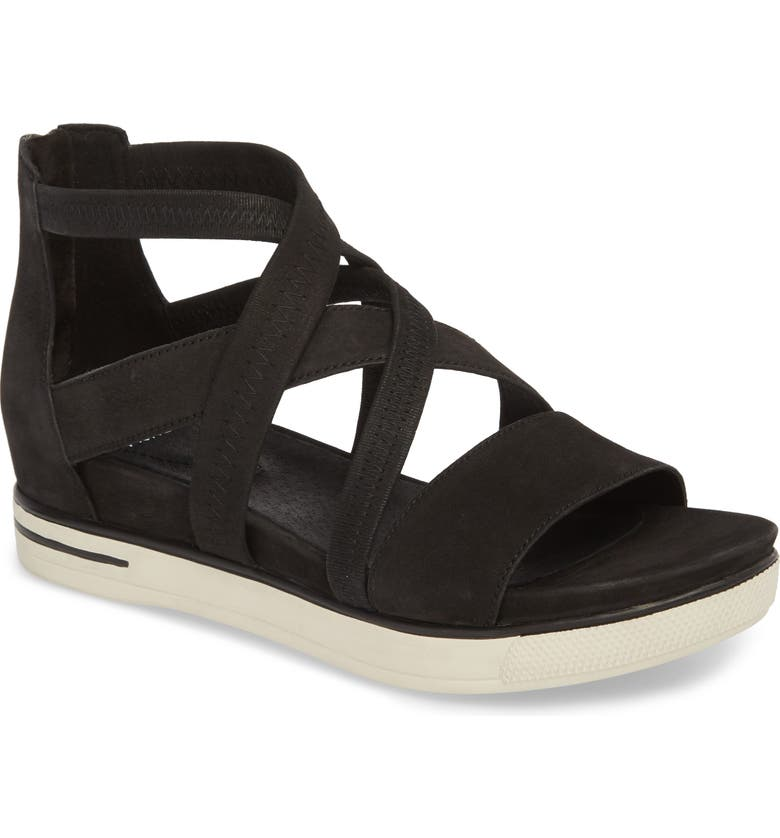 EILEEN FISHER Skill Strappy Sandal, Main, color, 001