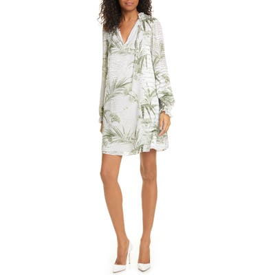 Ted Baker London Glimmah Highland Floral Long Sleeve Shift Dress, Grey