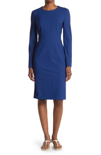 Image of BOSS Damola Jewel Neck Dress