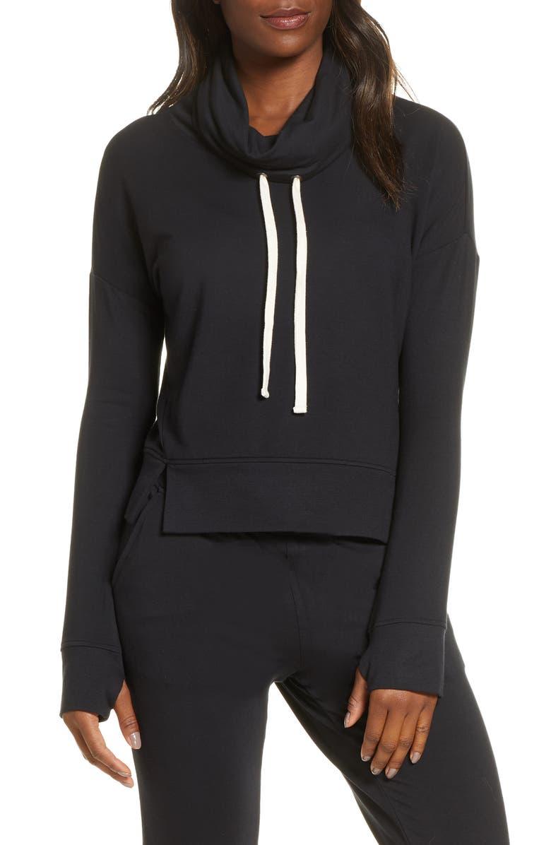 UGG<SUP>®</SUP> Miya Funnel Neck Sweatshirt, Main, color, 001