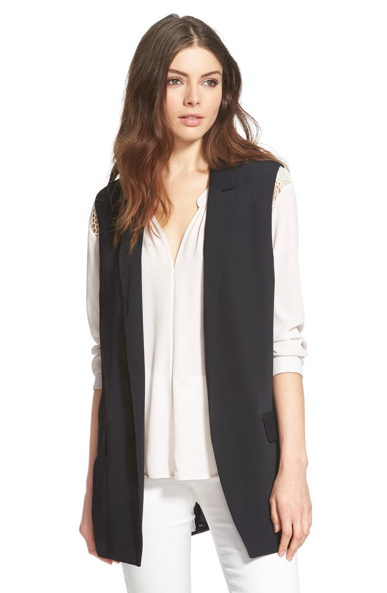 ASTR THE LABEL ASTR Pleat Back Longline Vest, Main, color, 001