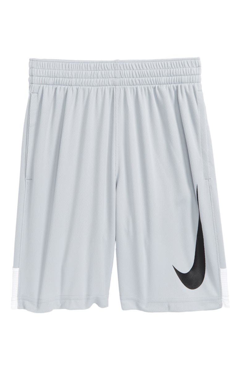 NIKE Dry Shorts, Main, color, WOLF GREY/ WHITE/ BLACK