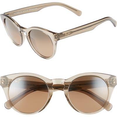 Maui Jim Dragonfly 4m Polarized Cat Eye Sunglasses - Translucent Taupe/ Bronze