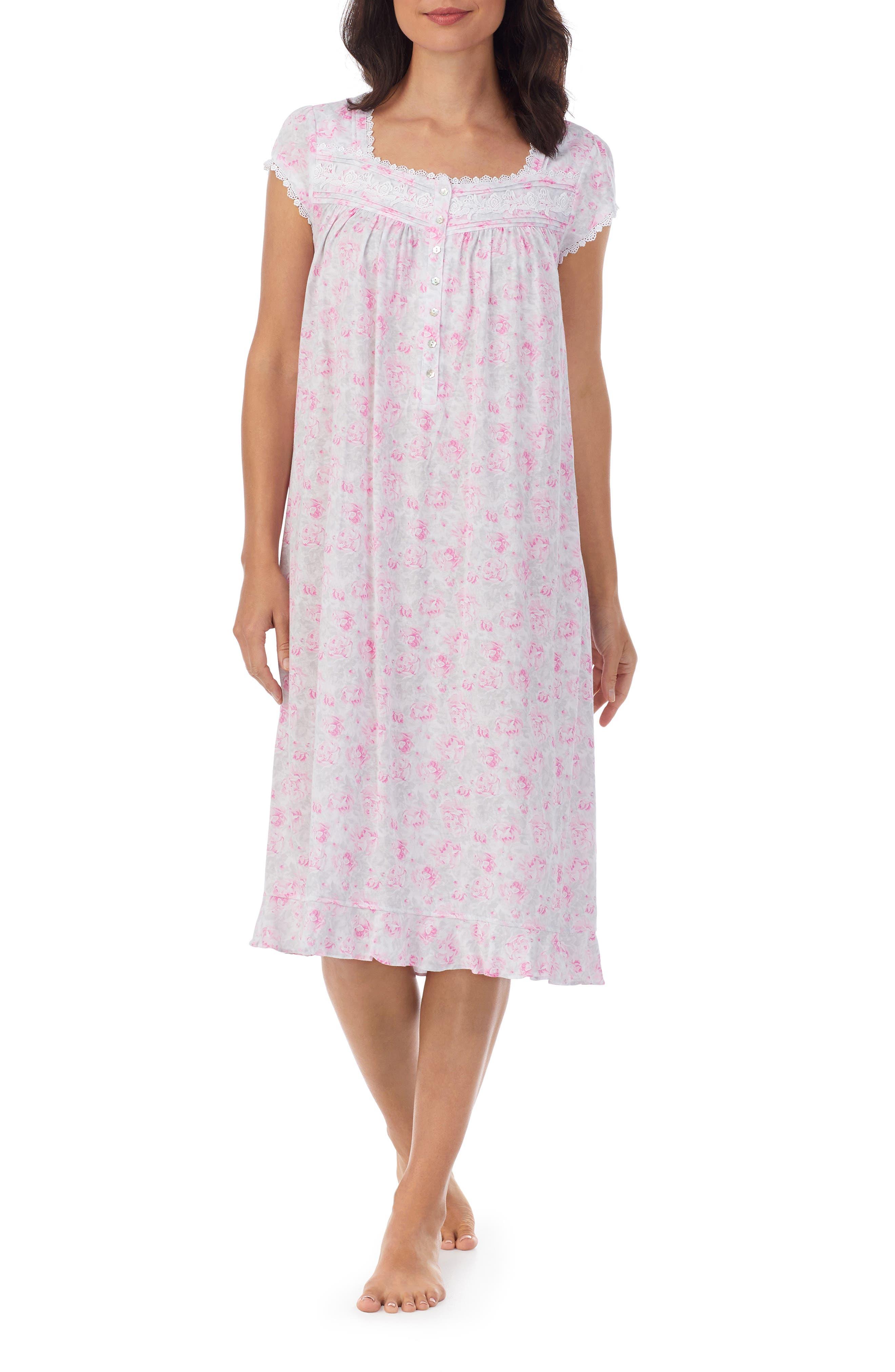 Lace Trim Waltz Nightgown