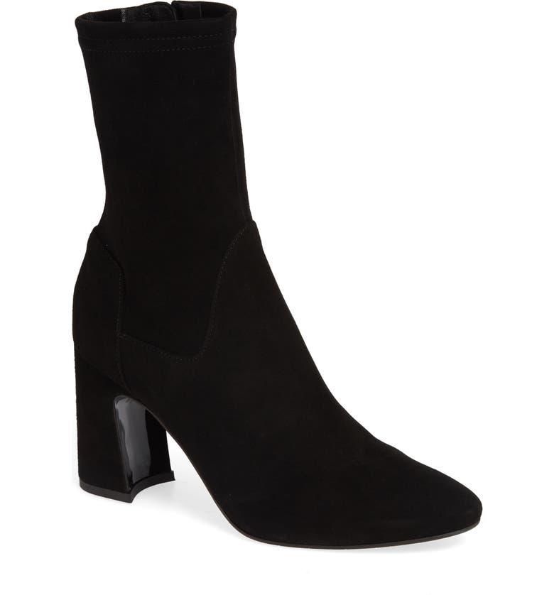 AQUATALIA Nastasia Stretch Suede Boot, Main, color, BLACK SUEDE