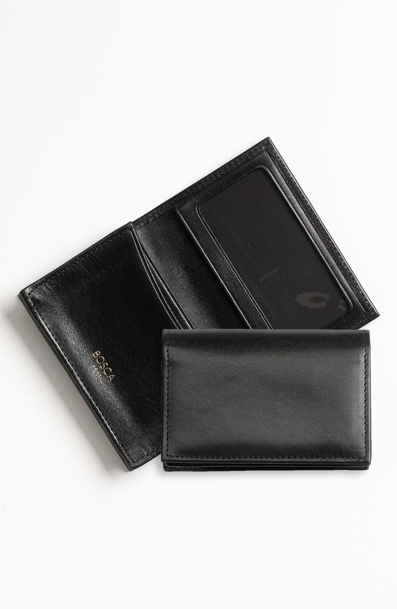 BOSCA Old Leather Gusset Wallet, Main, color, BLACK