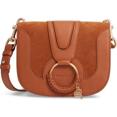 See By Chloe Hana Suede & Leather Shoulder Bag - Brown